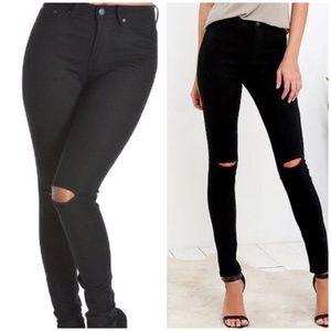 American BAZI Distressed High Rise Skinny Jeans